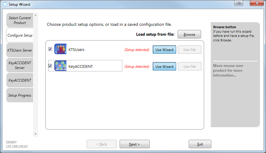 Configuring KeyACCIDENT and the MS SQL Server database