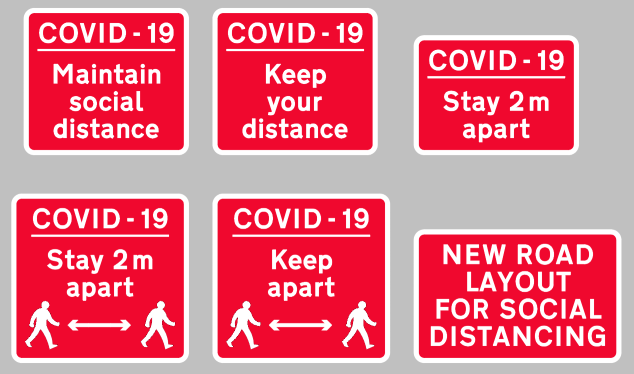 Covid Temporary Signs